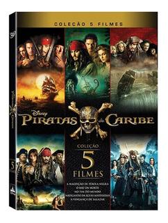 Dvd Coleção Completa Piratas Do Caribe 5 Filmes