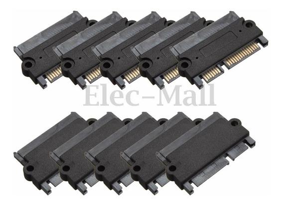 5 Adaptadores Socket Conversor Sata 22 Pin (7+15 Pin)