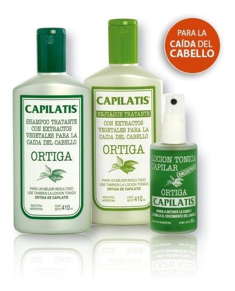 Anticaída Capilatis Ortiga Shampoo Enjuague Loción Frecuente