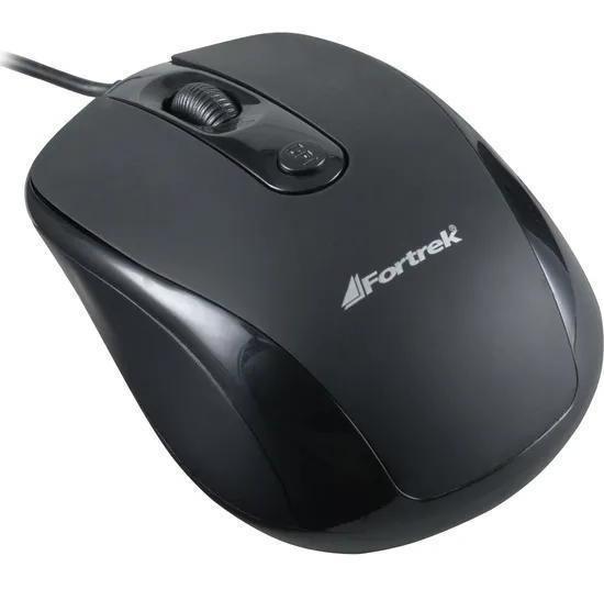 Mouse Usb Fortrek Om-103bk 1600dpi Preto