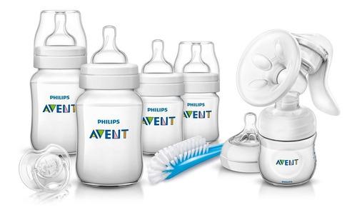 Set De Lactancia Avent Extractor Natural + Kit De 4 Teteros