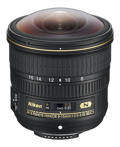 Lente Nikon Fx 8-15mm F/3.5-4.5e Fisheye Ed