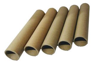 5 Tubos De Carton Duro 18 Pulgadas / 46 A 47cm