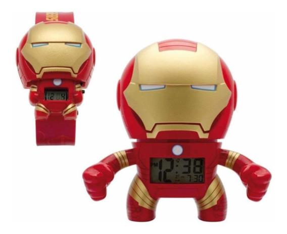 Set Reloj De Pulso Y Despertador Bulb Botz Iron Man