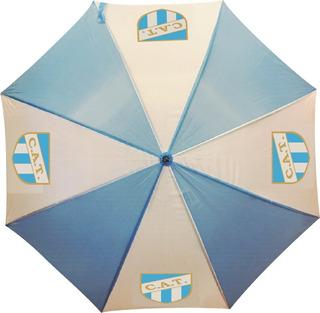 5 Paraguas Gigantes Blanco Y Celeste Con Logo Personalizado