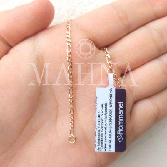 Pulseira Infantil Unissex Folheada Ouro 18k Rommanel 550055