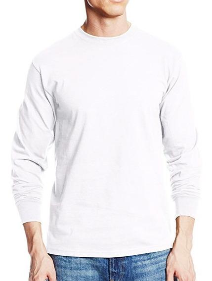 Camisetas Manga Larga Cuello Redondo Algodón 100% Camibusos.