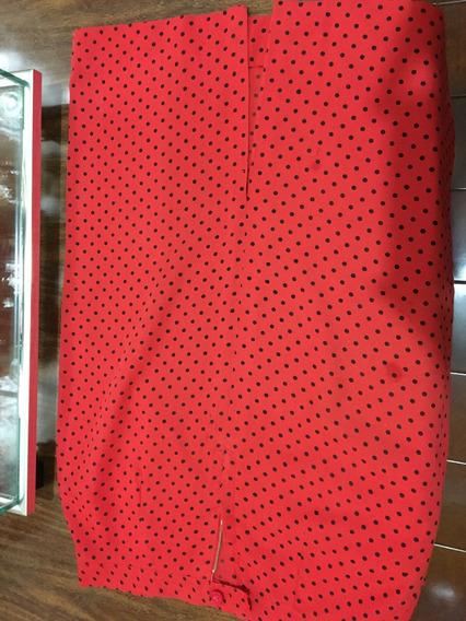 Conjunto De Saia E Blusa Vermelho De Bolinhas