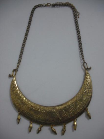 Colar Dourado Metal Bom Estado, Usado