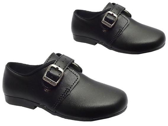 Sapato Menino Social Fivela Pimpolho Preto Sem Frete 004803