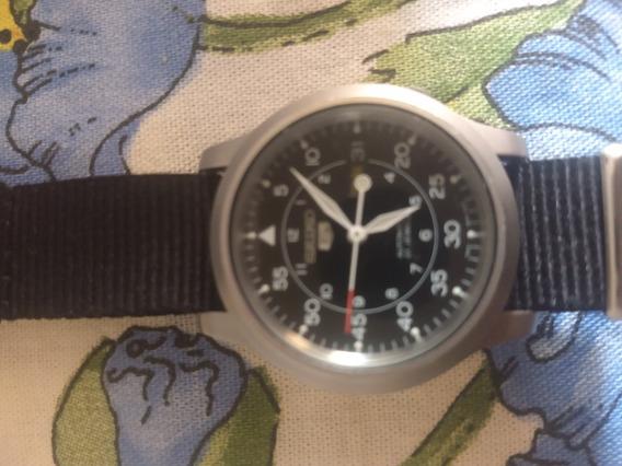 Relógio Seiko Militar Automático Snk80 Pulseira Lona