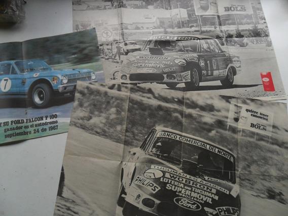 Lote 3 Poster Foto Ford Falcon Carrera 1972 Turismo Tc