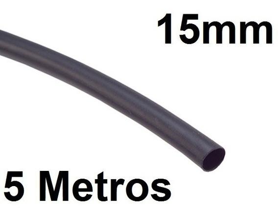 Espaguete/tubo Termo Retrátil Isolamento 15mm Preto 5 Metros