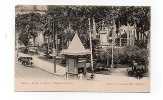 Belém 4 -pa-praça Visconde Rio Branco.cartão Postal