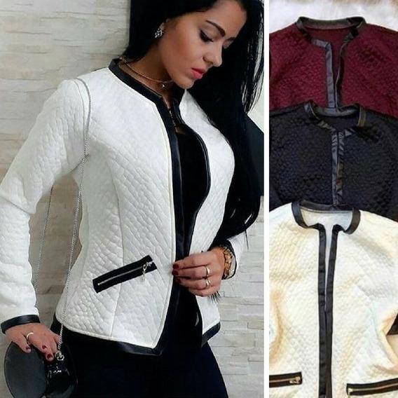 Jaqueta / Casaco Em Jacquard Detalhes Cirret Blazer Bleizer