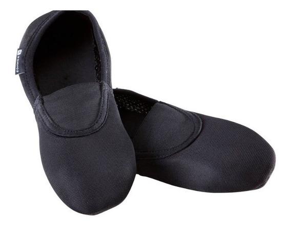 Zapatillas De Gimnasia Artística De Malla 500 Negro