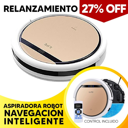 Robot Aspiradora Ilife V5s Barre Aspira Trapea + Envio W01