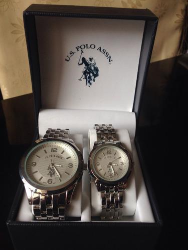 c17d890c8203 Relojes U.s. Polo Assn. Version De Mujer Y Hombre, Plateados