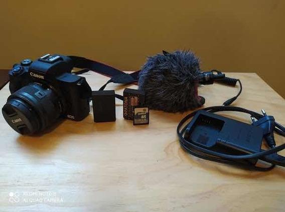 Canon Eosm50 + Bateria Extra + Cartão De 16g + Mic Boya