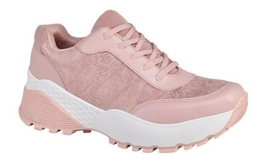 Tenis Sneakers Plataformas Rosas Casuales 2485