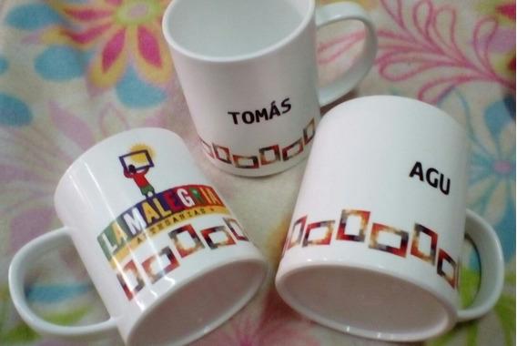 3 Tazas Personalizadas Polímero Con Foto O Logo