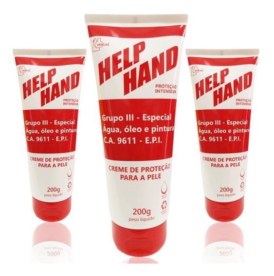 03 Creme Para As Mãos Help Hand Grupo 3 200g