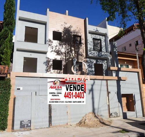 Cobertura Com 2 Dormitórios À Venda, 44 M² Por R$ 355.000,00 - Vila Assunção - Santo André/sp - Co0865