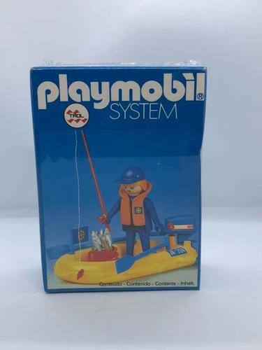 Playmobil System Trol Brasileño Set Pescador Y Bote Doestoys