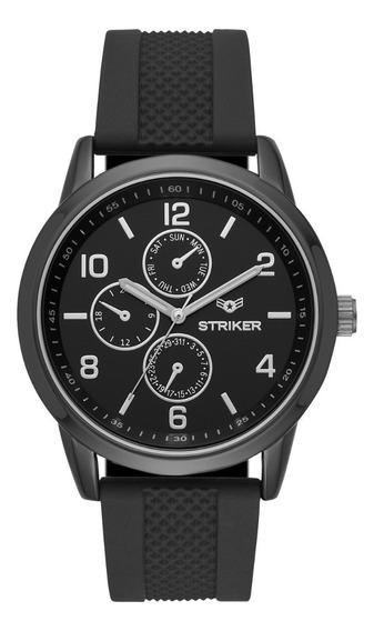 Reloj Caballero Striker Fmdmx040 Color Negro De Silicón