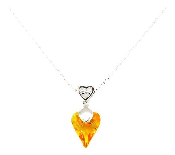 Sunflower 248 - Collar Con Crystals Swarovski En Baño De Oro