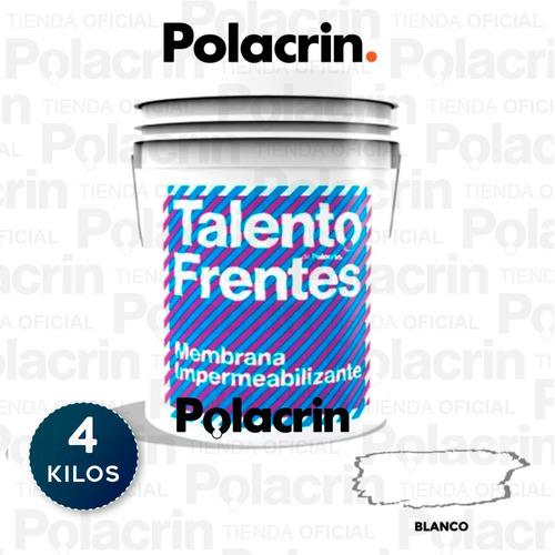 Membrana Frentes Y Muros Polacrin X 4 Litros Blanca Ta Tioso