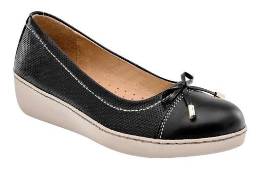 Zapato De Dama Negro 100% Piel Zoe
