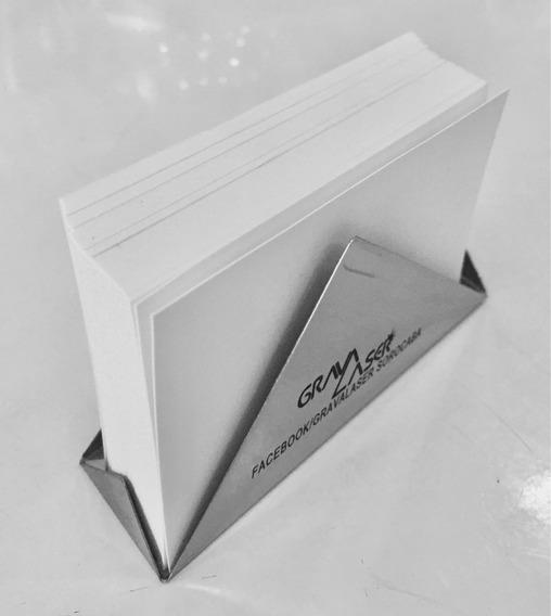 5 Porta Cartões De Metal Inox Já Personalizados À Laser Luxo