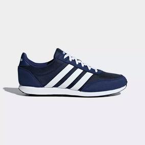 Tenis adidas V Racer Azul Marino Y Vino De Hombre 12173