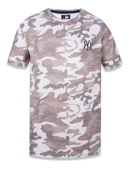 Camiseta New Era Military New York Yankees Khaki Original