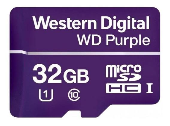 Cartão De Memória Micro Sd Wd Purple 32 Gb - Para Câmeras