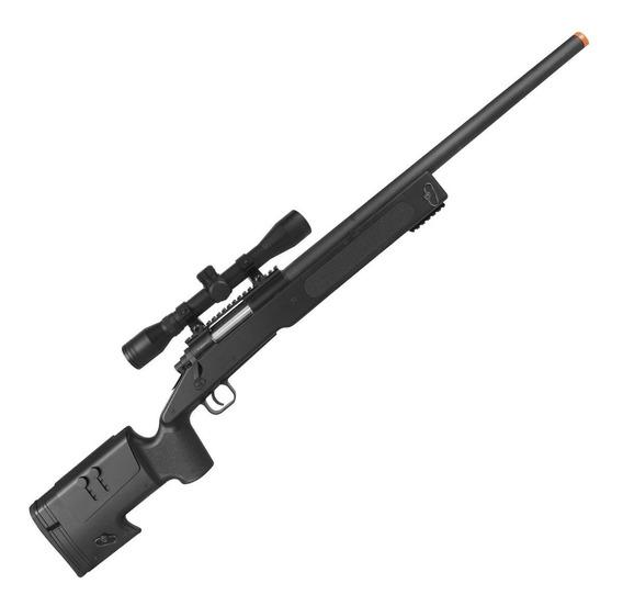 Airsoft Sniper Rifle Mola M62 Black + Luneta 4x32 Promoção!