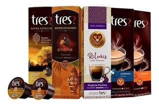 Cápsula Café Três Corações Kit C/ 100 Unidades Frete Gratis