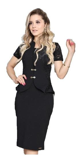 Vestido Moda Evangélica Executivo Cristã