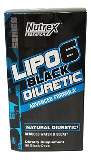 Lipo 6 Black Diuretic Nutrex 80 Caps (20 Srvs)