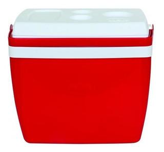 Caixa Termica 34 Litros Vermelha Com Alça - Mor