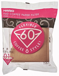 Filtros De Café De Papel Hario V60, Tamaño 01, 100 Unidades,