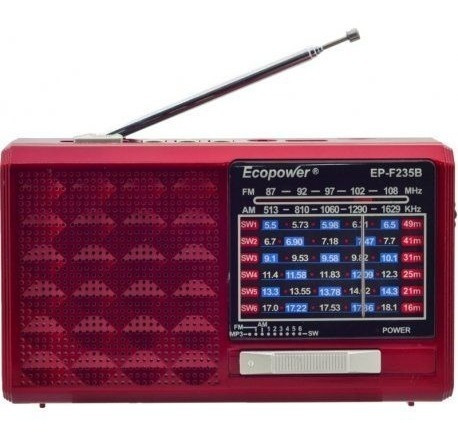 Radio Portátil Am/fm/sw/usb/sd/bluetooth Ecopower Ep-f235b