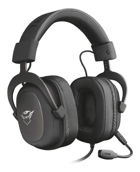 Headset Gamer Trust Gxt Zamak Preto Com Fio Multiplataforma
