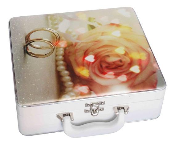 Álbum Maleta Enlace Casamento Flor 150 Fotos 13x18 E 15x21