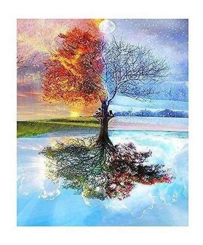 Imagen 1 de 7 de Artesania Yuema Grafia Diy Pintura Al Oleo Por Numero Diy Pi