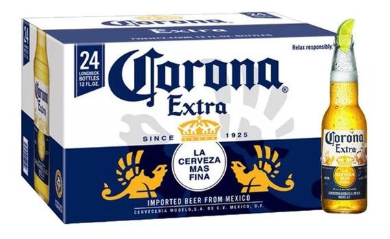 Cerveja Corona Extra 355ml Caixa Com 24 Unidades