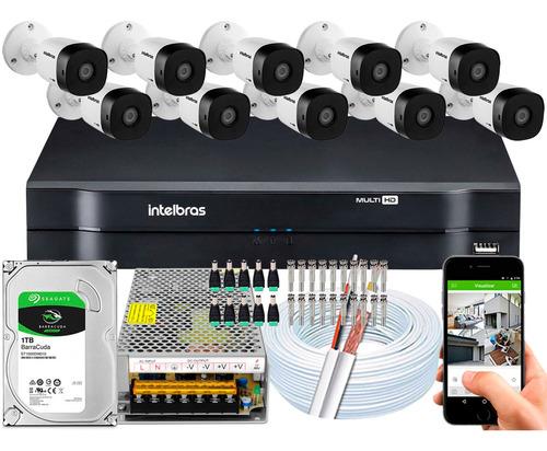 Kit Cftv 10 Cameras Segurança Vhd 1220 B G5 Intelbras 16 Ch