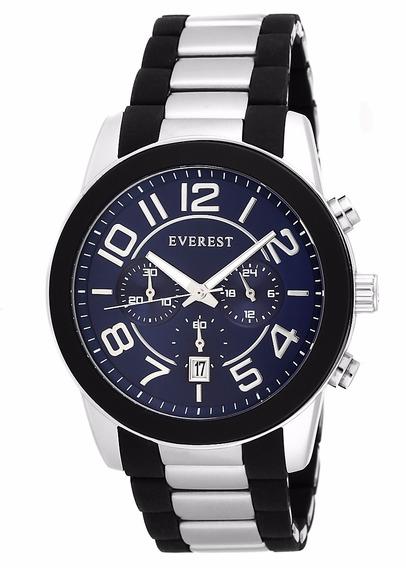 Everest Relógio Masculino Aço 24 Á Prova D´agua C Garantia1