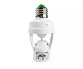 Kit 6 Sensor De Presença Soquete E27 Lâmpada Iluminação